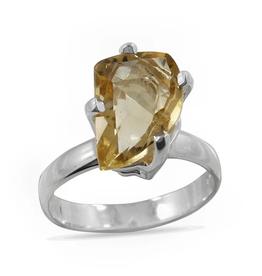Citrine, IR Cut, Sterling Silver Ring (Size 8) - AGR-20229-482