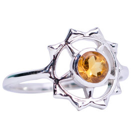 Ring - Citrine Solar Plexis Sterling Silver – (Size 9) - M-SY11