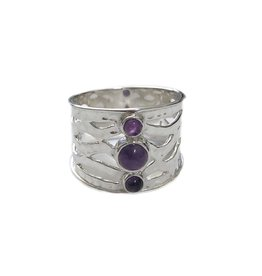 Ring - Amethyst Warrior Sterling Silver (Size 7) - R-206