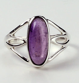 Ring -  Amethyst Candy Sterling Silver (Size 6) - R-244