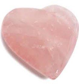 Rose Quartz Heart- large
