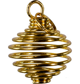 Tumbled Stone Cage - Gold, large