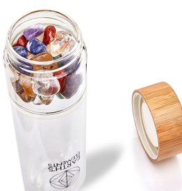 Crystal Water Bottle - Chakra Alignment - CBC11