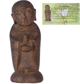 Jizo Buddha - Volcanic Stone Statue - 33696