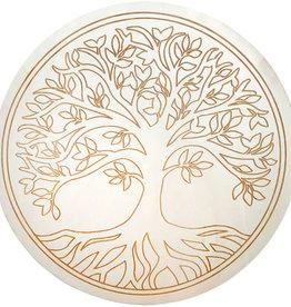 Wood Crystal Grid - Tree of Life - 15186