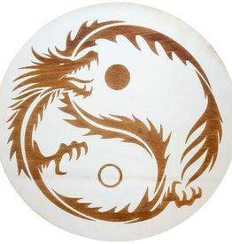 Wood Crystal Grid - Yin Yang Dragon - 15187