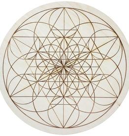 Wood Crystal Grid - Fibonacci Seed of Life - 15191