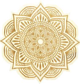 Wood Crystal Grid - Flower Mandala - 15197