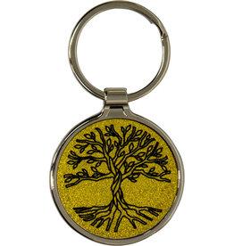 Metal Key Ring - Tree of Life - Gold - 58627