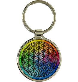 Metal Key Ring - Flower of Life - Chakra - 58630