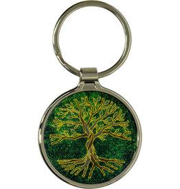 Metal Key Ring - Tree of Life- Green - 58631