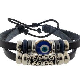 Bracelet - Protection - Evil Eye - Black w/ Filigree - 98810