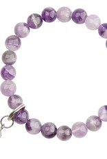 Amethyst & Angel Wing Bracelet - Good Health & Protection