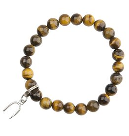 Tigers Eye and Horseshoe Bracelet - Protection and Good Luck