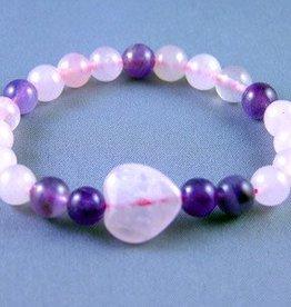Pink United Bracelet - Rose Quartz and Amethyst - Good Health