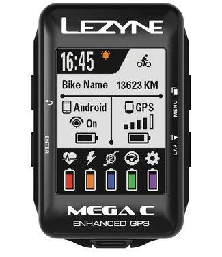 Mega C GPS Loaded Bike Computer - GPS, Wireless, Heart Rate Monitor, Speed, Cadence, Black