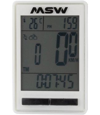 MSW Miniac Double Wireless Bike Computer - Wireless, Black