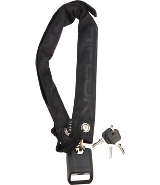 Hiplok Hiplok Lite Wearable Hardened Steel Chain Lock: 8mm, Black