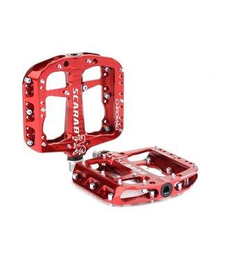 """Chromag Chromag Scarab Pedals - Platform, Aluminum, 9/16"""", Red"""