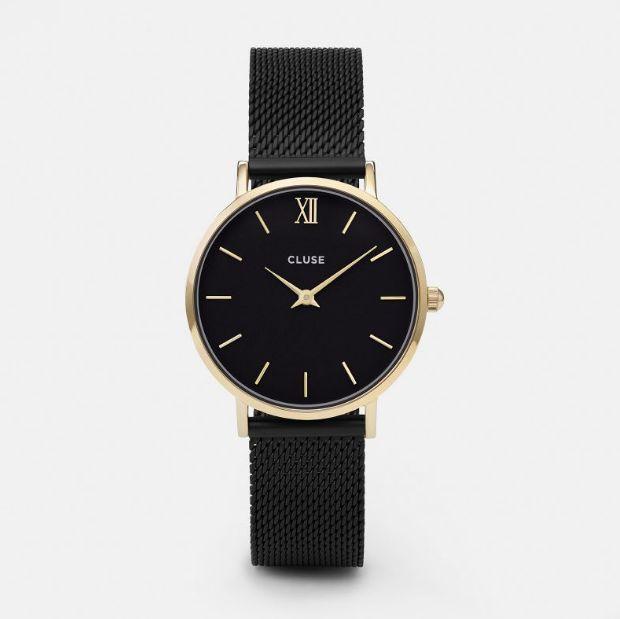 CLUSE Minuit Mesh Gold Black/Black