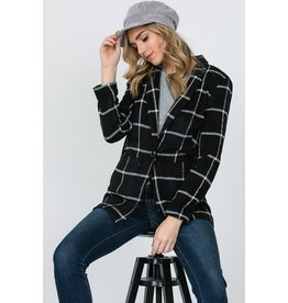 Grid Long Coat