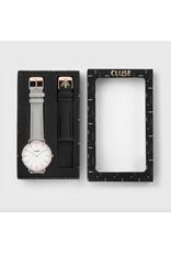 CLUSE Aviaton Box La Bohème Rose Gold White/Grey with Black Strap