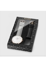 CLUSE Aviaton Box La Bohème Rose Gold White/Grey with Black Strap