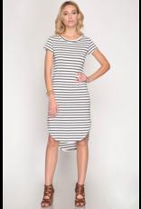 Ella Stripe Midi Dress