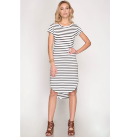 Ella Stripe Midi Dress