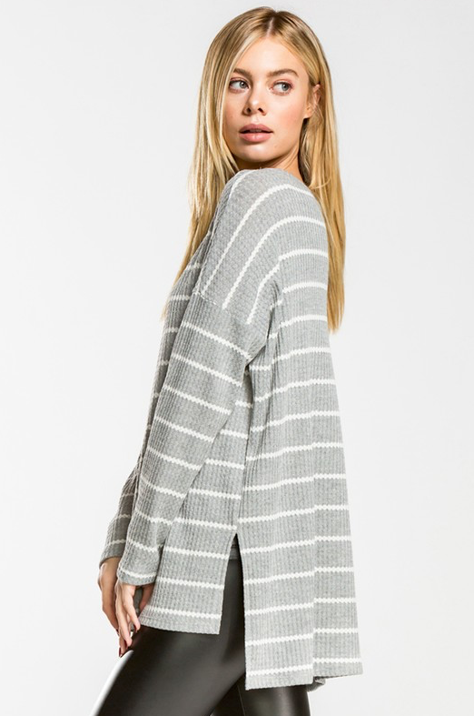 Violet Stripe Sweater