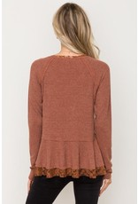 Tessa Lace Hem Shirt