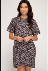 Camille Animal Print Dress