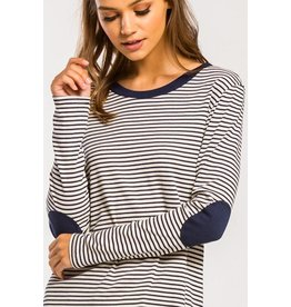 Irina Elbow Patch Top