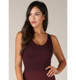 Core Collection* V Neck Ribbed Crop Top