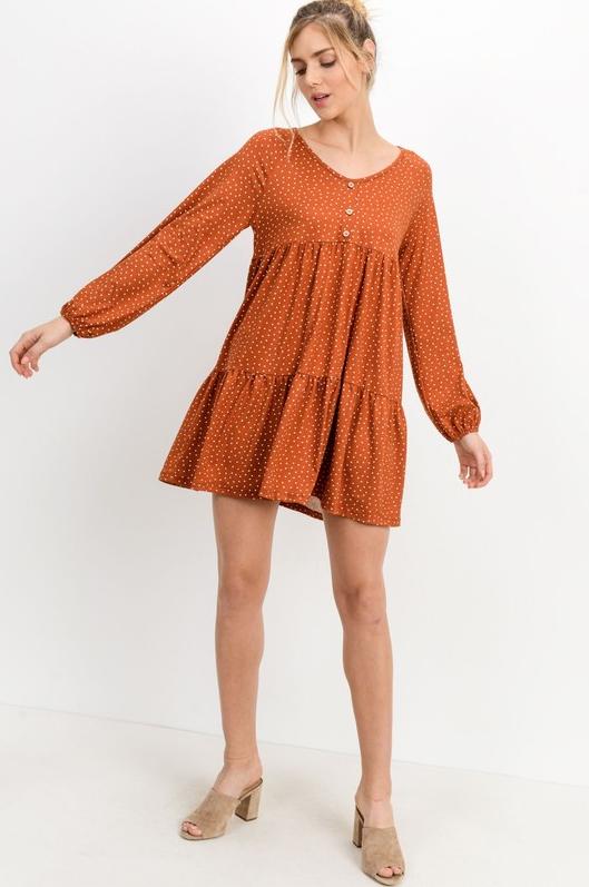 Cellie Peplum Dress