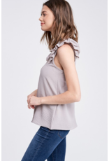 Coline Shirring Tank Top