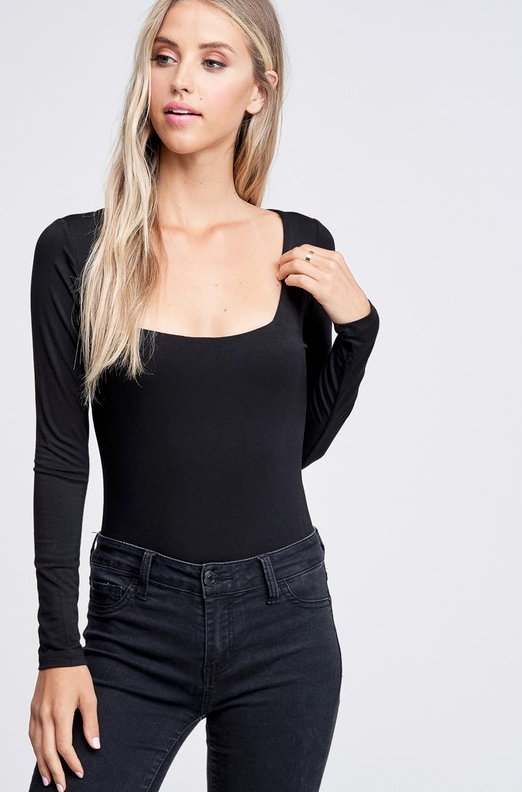 Coretta Square Neck Bodysuit