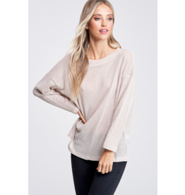 Chanille Open Back Sweater