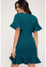 Nydia Flounce Dress