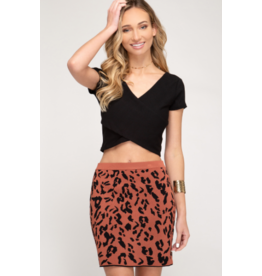 Nelli Animal Sweater Skirt