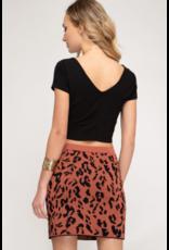 Nelli Animal Sweater Skirt