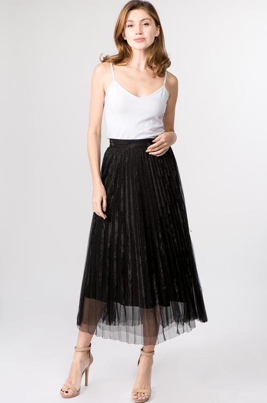 Milena Mesh Pleated Skirt