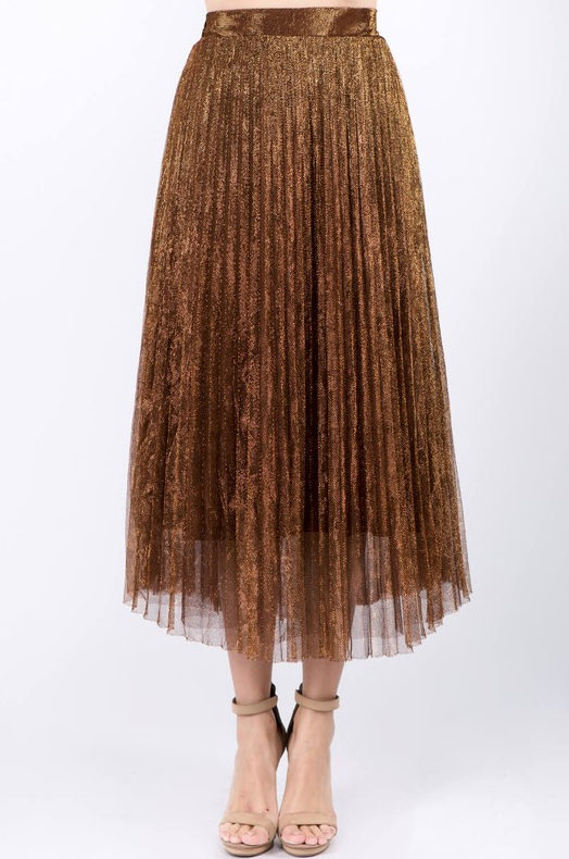 Milena Mesh Pleated Skirt