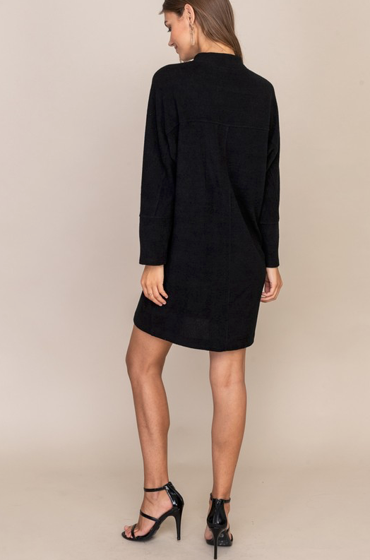 Greta Mock Neck Dress