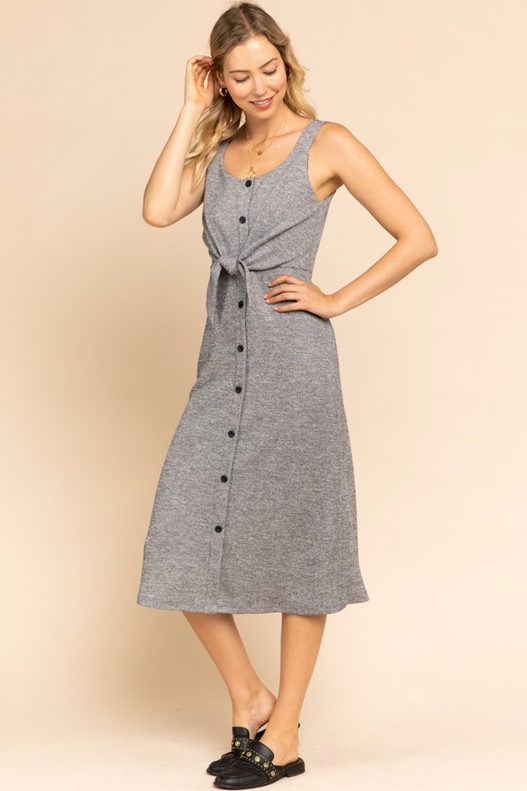 Darlene Button Front Dress