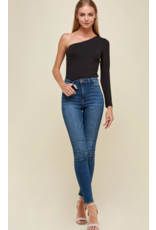 Channel One Shoulder Body Suit