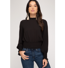 Celina Lng Sleeve Crop Blouse