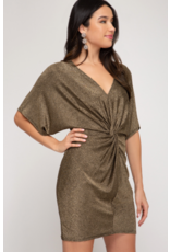 Cherie Batwing Sparkle Dress