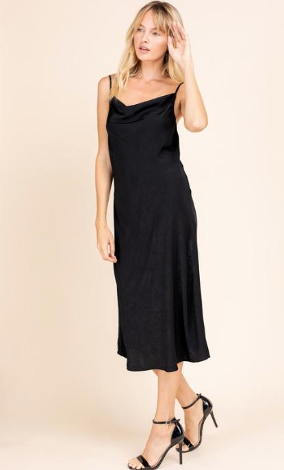 Cara Satin Slip Dress