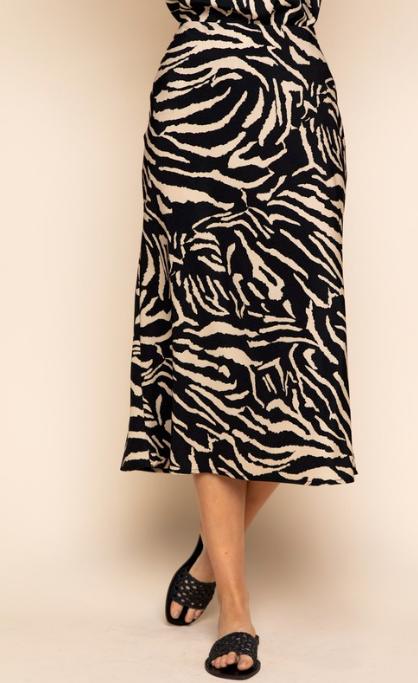Cailey Leopard Skirt
